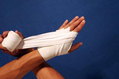 ムエタイの練習で使用される防具:バンテージ